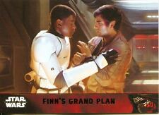 Star Wars Force Awakens S1 Gold Parallel Base Card #85 Finn's grand plan