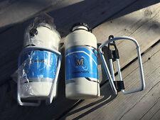 X2 PAIR VINTAGE WATER BOTTLE / HOLDER ITALY MARINONI ALE TORINO BORRACCIA RACER