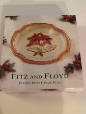 Fitz And Floyd Holiday Bells Canapé Plate New