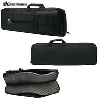 "85cm/33"" Padded Rifle Gun Case Bag Shotgun Backpack Hunting Case Tactical Black"