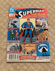 """DC Comics Superman No. 423 Sept. 1986 """"The Historic Last Issue: A Very Special S"""