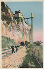 VINTAGE POSTCARD - COLOURED POSTCARD OF THE FRONTIER BETWEEN ITALY & FRANCE