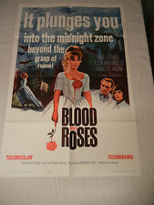 BLOOD AND ROSES Poster ANNETTE VADIM/ELSA MARTINELLI Original 1961 One Sheet