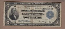 "$2 1918 FRBN ""BATTLESHIP"" NEW YORK NOTE (FINE)"