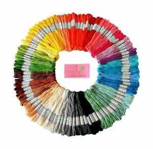 Premium Rainbow Color Embroidery Floss - Cross Stitch Threads - Friendship Br...
