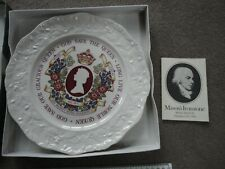 Still Boxed With Booklet Masons China Plate God Save The Queen Silver Jubilee