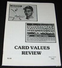 CARD VALUES REVIEW 1982 MAY - JUNE BASEBALL LUIS APARICIO * NEW YORK YANKEES '56