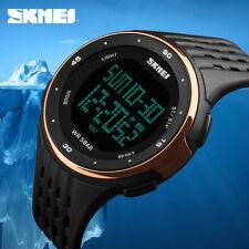 SKMEI LED Digital Wristwatches Men Women Outdoor Sport Military Watch Waterproof