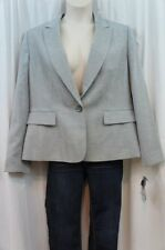 "Le Suit Blazer Sz 18 Sterling Gray ""Palm Beach"" Business Career Evening Jacket"