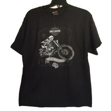 "Harley-Davidson Men's Short Sleeve Black shirt ""skeletal Ride"" Large"