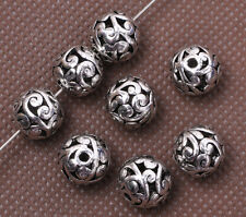 10pcs Tibetan Silver Charm Hollow Bead Spacer Beads 10mm Jewelry Findings F3022