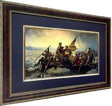 George Washington Crossing The Delaware Custom Framed Art Print