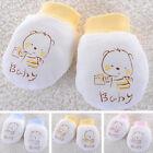 Cute Newborn Mittens Breathable Cotton Gloves Unisex Anti scratch Soft Baby Warm