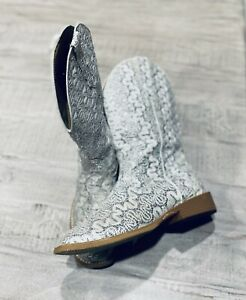 Rare Roper Western Women's White/Glitter Boots