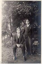 C057 Photo vintage originale Bois de Boulogne mode fashion chapeau 1930