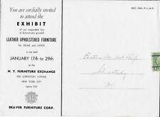 1930's Illust'd Beaver Furniture Co. Mailer from New York, NY to Schenctady, NY