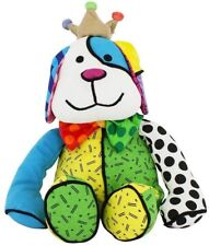"ROMERO BRITTO 'Royalty Dog' Soft MINI 7"" Plush Stuffed Animal Puppy Dog Toy NWT!"