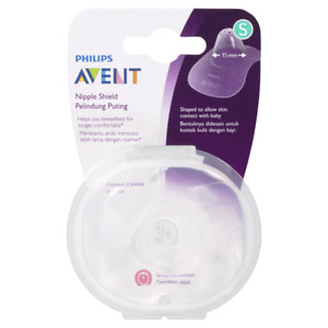 AVENT Nipple Shield 2 Pack - Small Soft Ultra-Thin Silicone SCF153/01