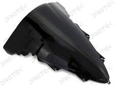 ABS Smoke Black Double Bubble Windscreen Windshield for 2009-2014 Yamaha YZF R1