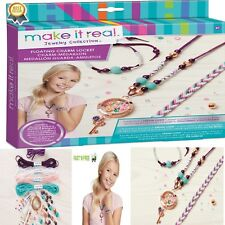 Jewelry Making Kit Girls Necklace Bracelets Teens Kids Craft Handmade Creative