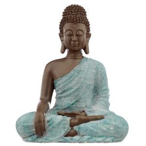 Buddha Figurine - Turquoise & Brown Buddha - Love