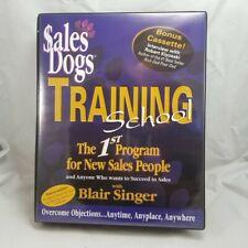Sales Dogs Training School Kit Blair Singer Bonus Audio Tape Dvd Robert Kiyosaki