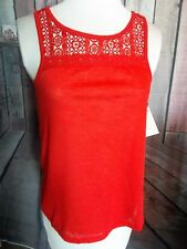 """""""NO BOUNDARIES"""" Tank Top, Red, Size Small, BRAND NEW, Discount Price!!"""
