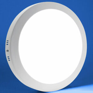 24W Modern LED Round Surface Mounted Ceiling Panel Down Light Bathroom Kitchen