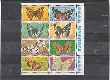 bloc de 8 papillons guinée équatoriale