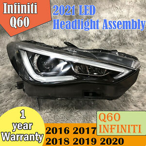 2016-2021 Infiniti Q60 LED Headlight Assembly Original with Adaptive Function
