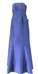 JS BOUTIQUE BLUE STRAPLESS PROM DRESS Size 6