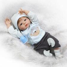 """23"""" Full Silicone Body Reborn Doll Realistic Baby Boy Lifelike Newborn Dolls"""