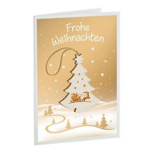 Weihnachtskarte Briefkarte: Weihnachtsbaum (2 Stck.)