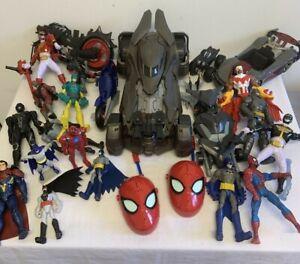 Marvel & DC Comics Toys Action Figures Job Lot Batman Spiderman #3481