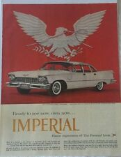 Vintage 1957 Chrysler Imperial Magazine Advertisement Ad Sealed!