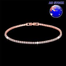 Wholesale 18K Rose Gold Filled Tennis Bracelet with Clear Crystal Bridal Wedding