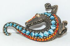 Hand encrusted Crocodile Belt made with Swarovski Crystal