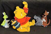 1964 Disney Winnie the Pooh, Eeyore Pigglet Kanga Thick Cardboard Wall Cutout