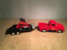 EASTWOOD 1956 FORD PICKUP AND RACE CAR DIE CAST 3 PIECE SET BY ROAD CHAMPS