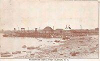 New York NY Postcard c1910 FORT SLOCUM Passenger Dock Steamboat