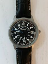 Poljot Russian Aviator Mechanical Watch 17 Jewels and Black Leather Strap
