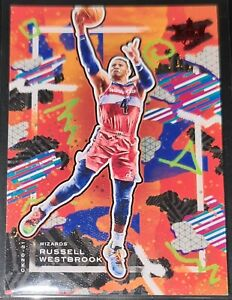 Russell Westbrook 2020-21 Court Kings RUBY PARALLEL Insert Card (#'d 087/149)