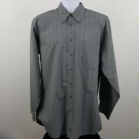 Nordstrom Pale Green Check Men's Dress Button Shirt Sz LL Long Large