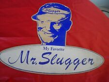 VINTAGE BASE BALL MR SLUGGER MY FAVORITE PLAQUE PLV BOIS SERIGRAPHIE 70's