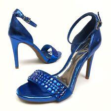 ✅❤️✅$  Gianni Bini Platinum Women's Pumps  Strap Buckle 7M Blue Open Toe NWOB