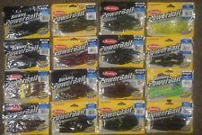 16 Packs of Berkley PowerBait - Lizards, Bungee Hawg, Flippin Tube, Power Craw