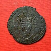 #1248 - Henri III Douzain aux deux H 1577 T Nantes - FACTURE