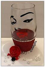 Marilyn Monroe Inspired Large Hi Ball Tumbler Glitter Glass Gift