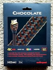 AudioQuest Chocolate HDMI Cable with Ethernet, 3D and 4K Ultra HD - 3m