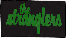 THE STRANGLERS 77 PUNK ROCKER LARGE BLACK PATCH GREEN INK SEW ON